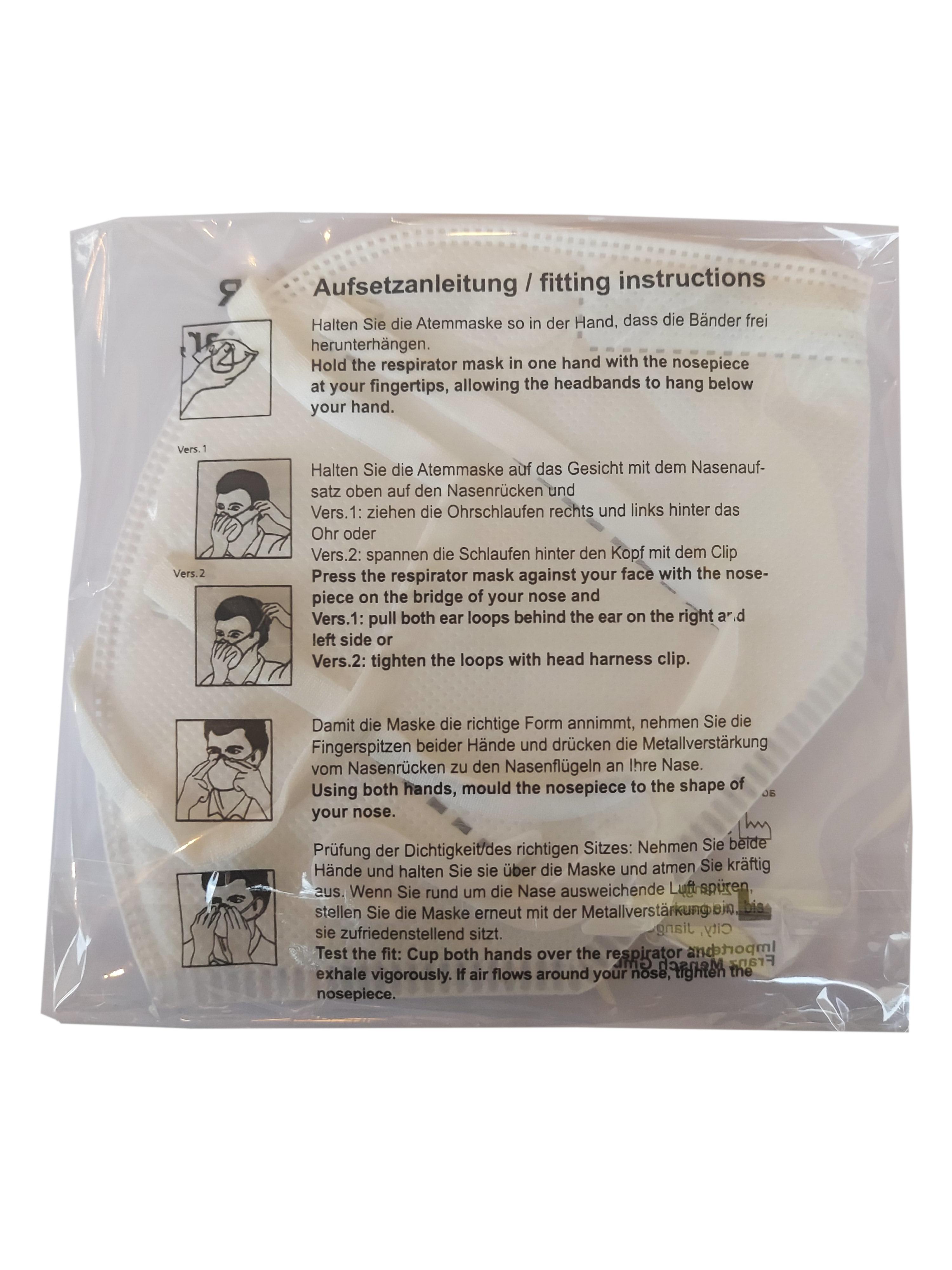 FFP2 Atemschutzmaske | 10er Pack