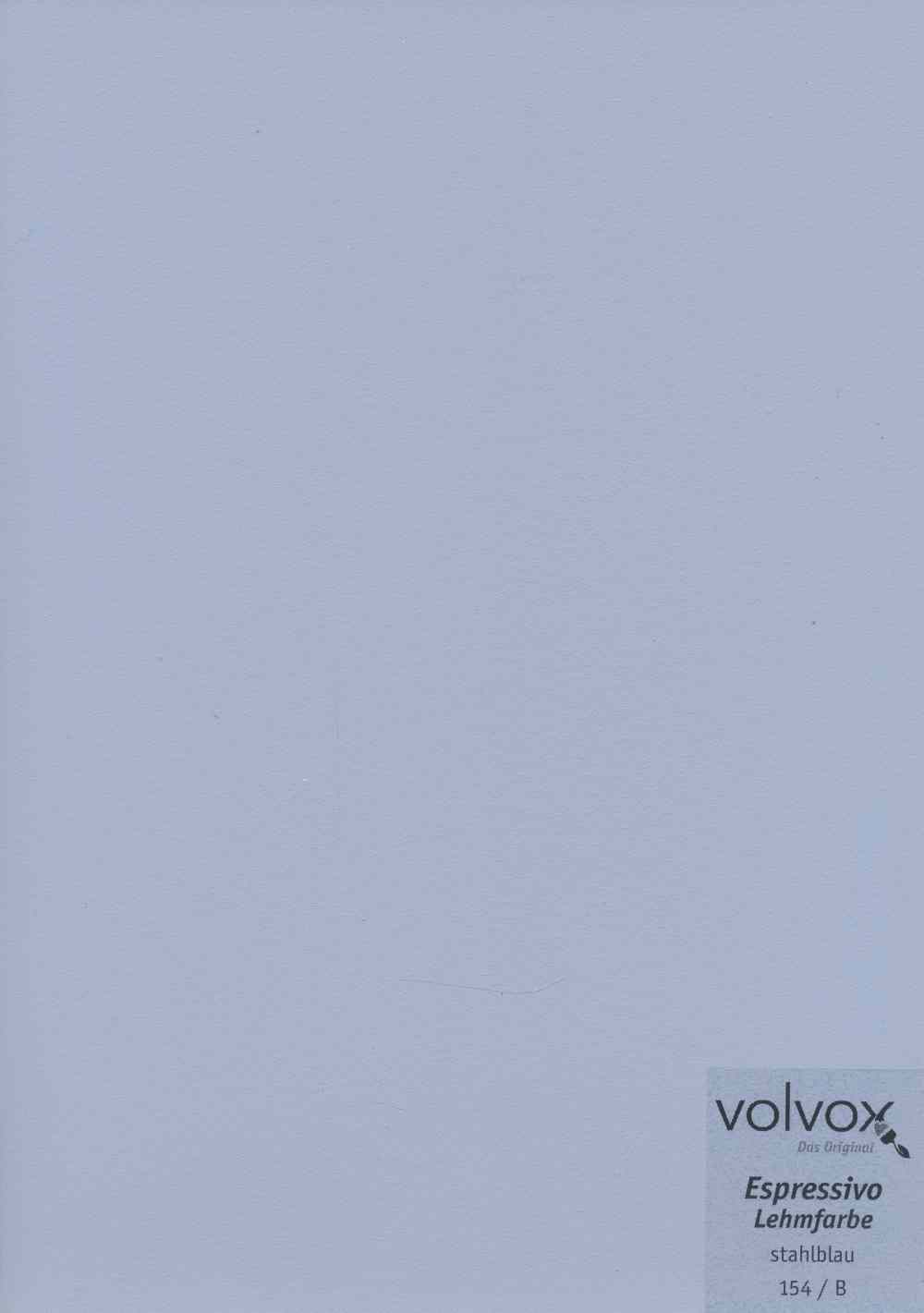 Volvox Espressivo Lehmfarbe 154 stahlblau