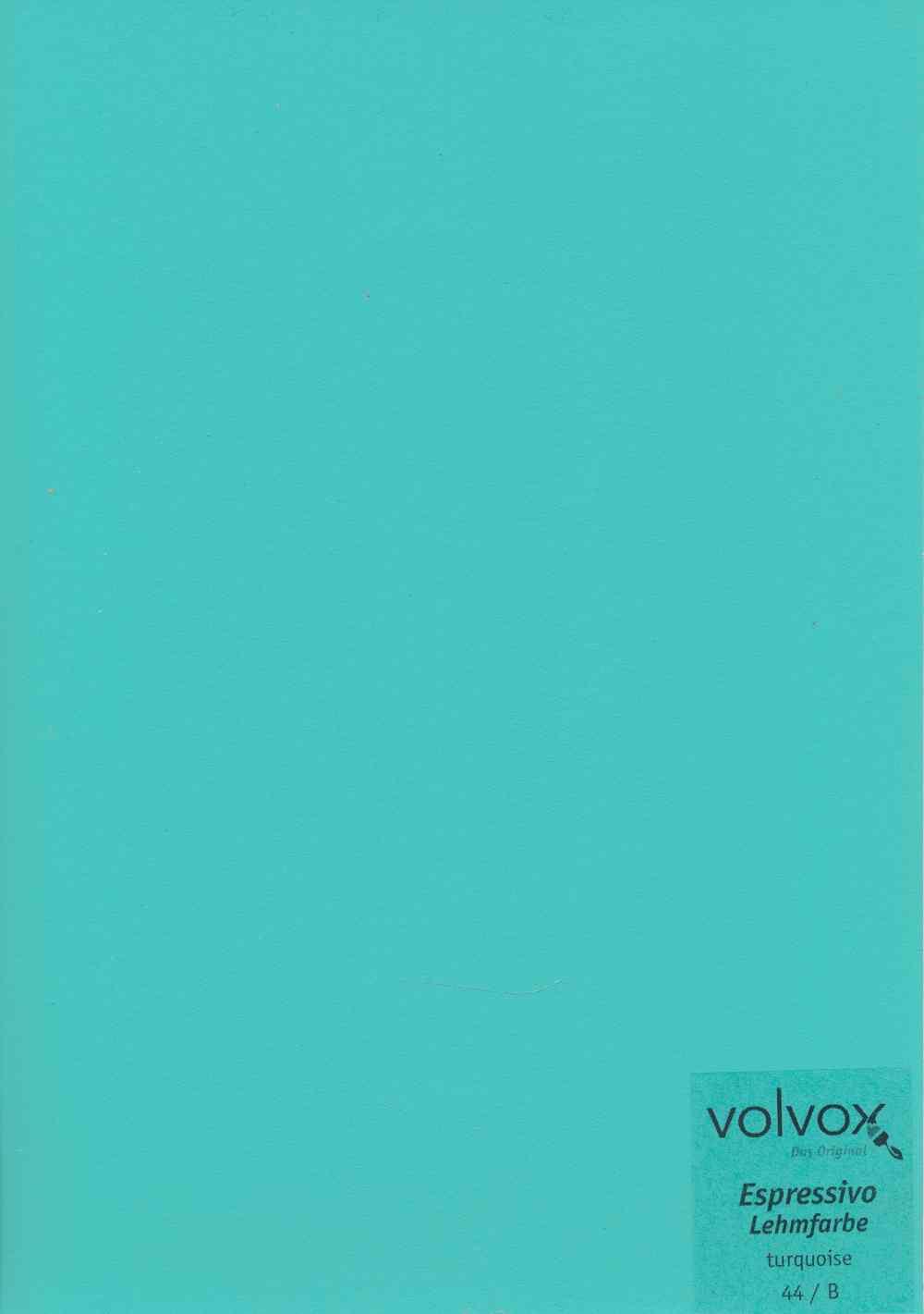 Volvox Espressivo Lehmfarbe 044 turquoise