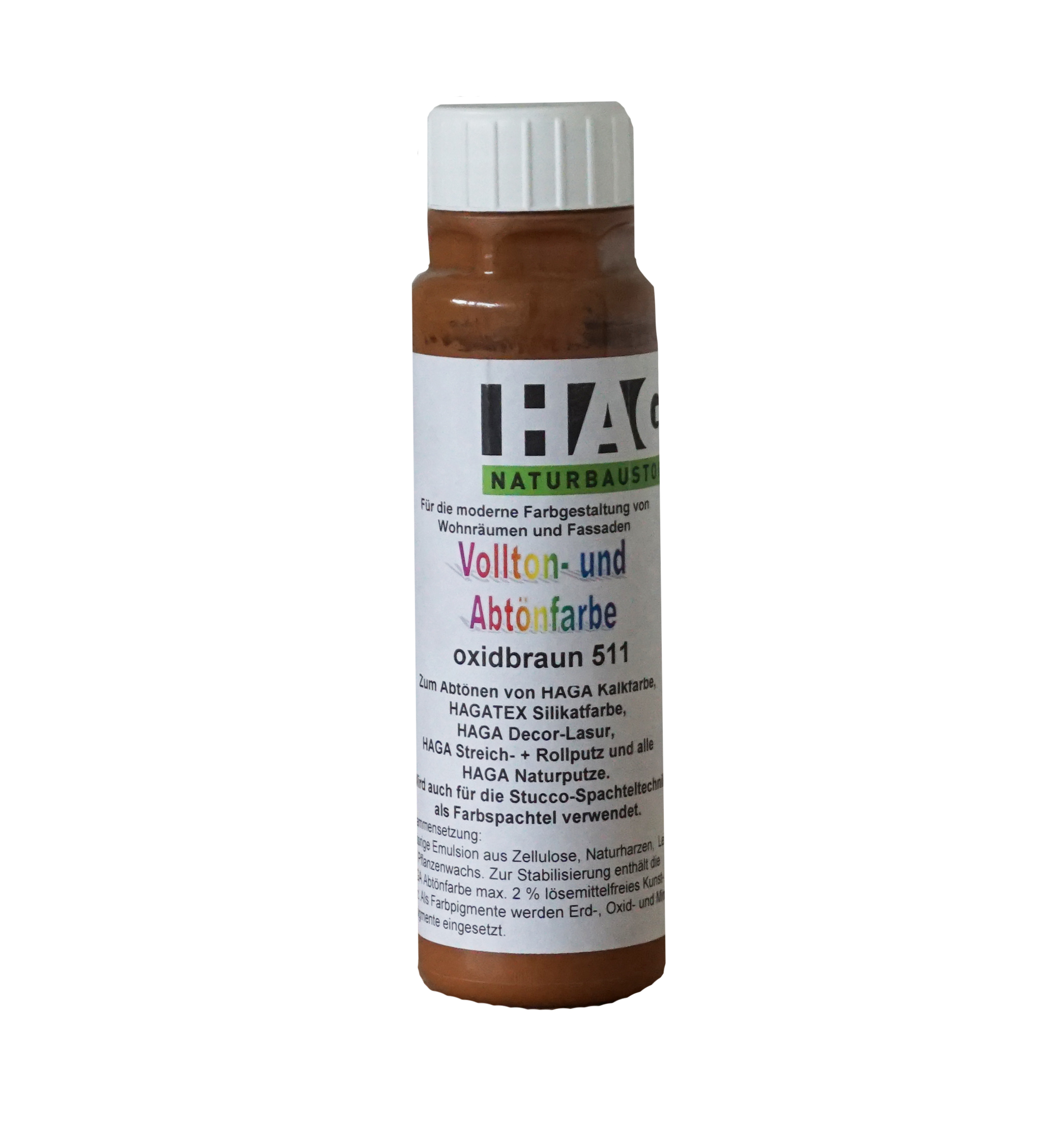 HAGA Vollton- & Abtönfarbe · oxidbraun 511
