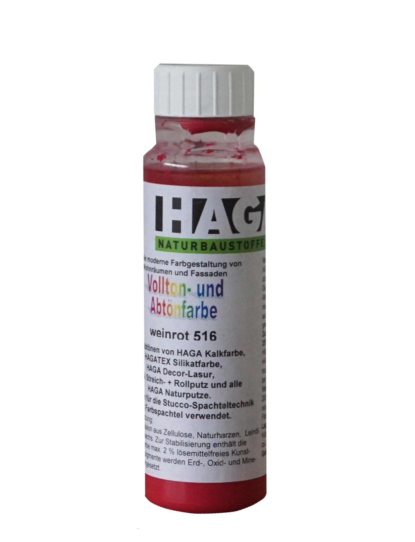 HAGA Vollton- & Abtönfarbe · weinrot 516