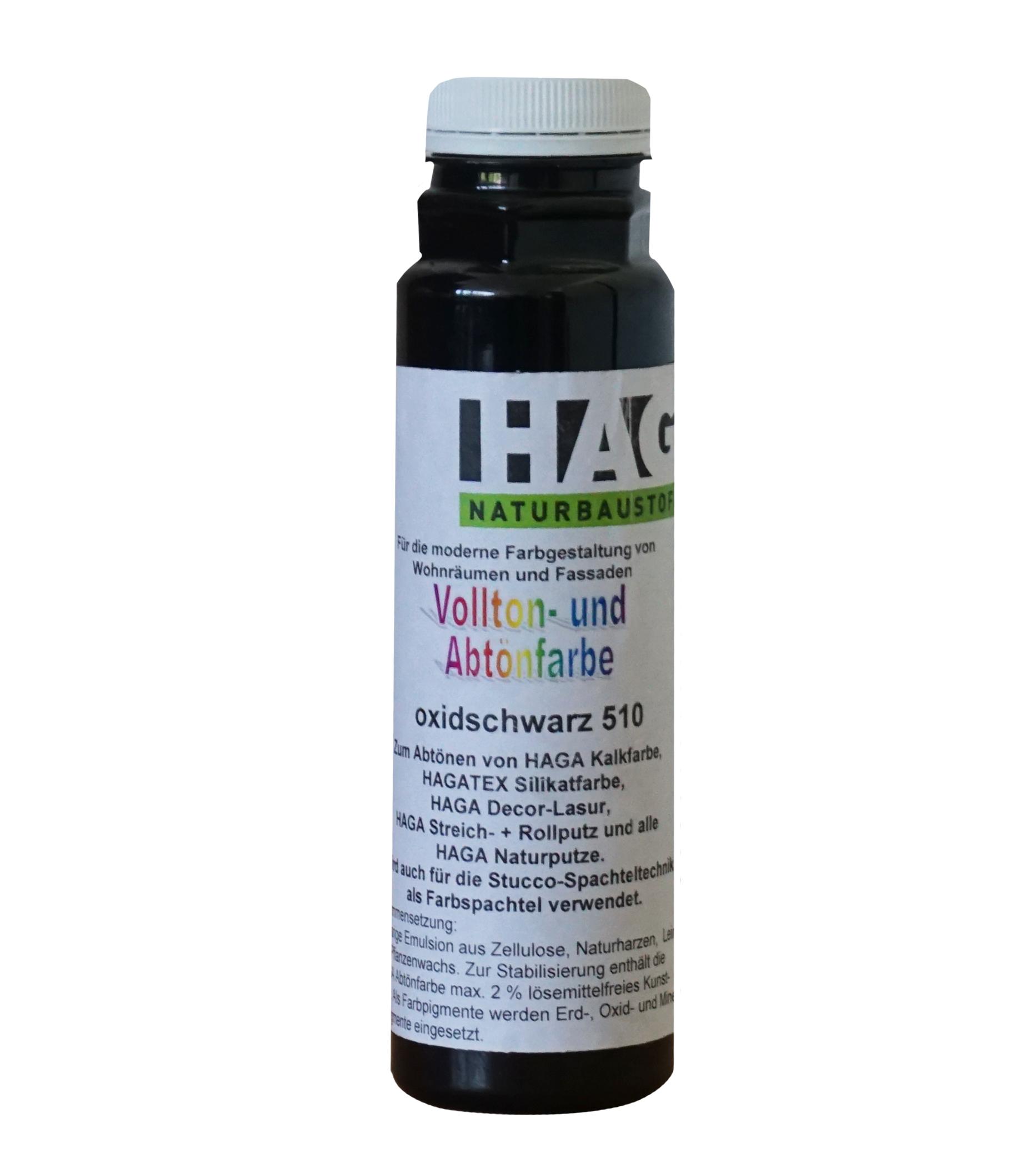 HAGA Vollton- & Abtönfarbe · oxidschwarz 510