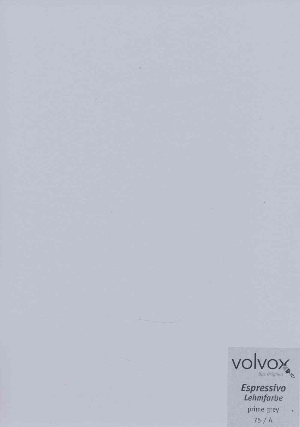 Volvox Espressivo Lehmfarbe 075 prime grey