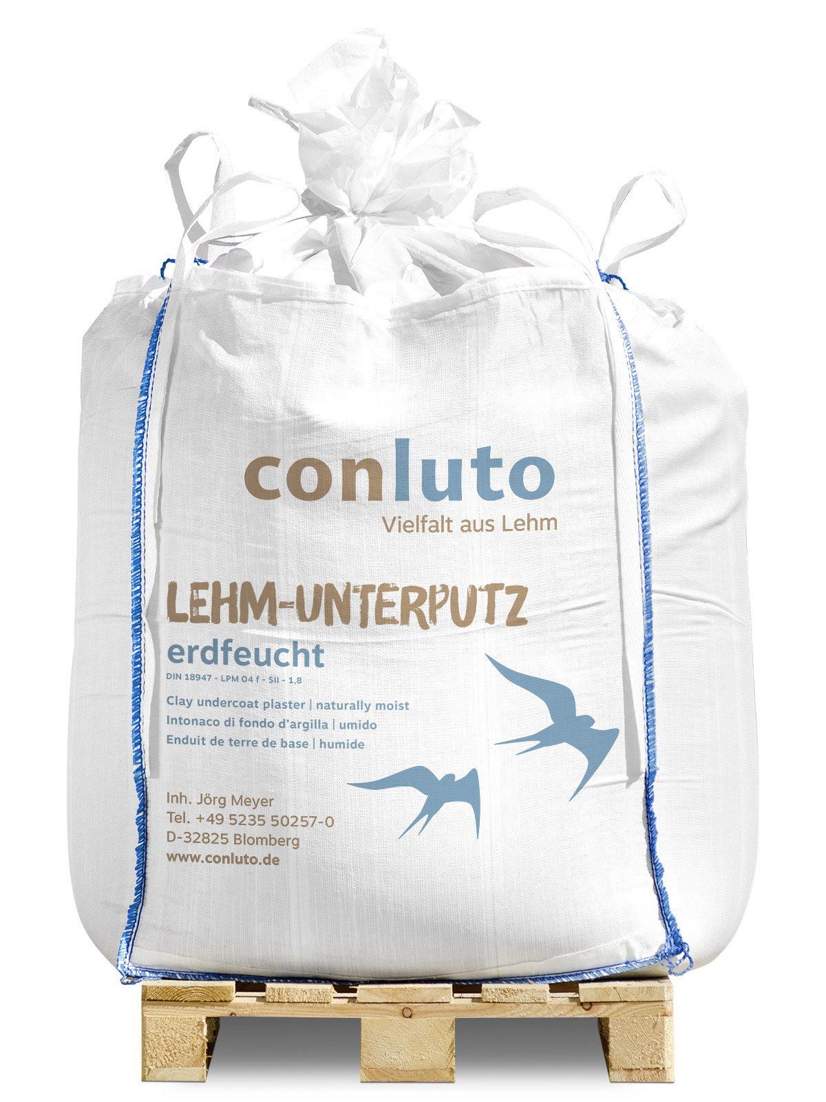 conluto Lehm-Unterputz erdfeucht