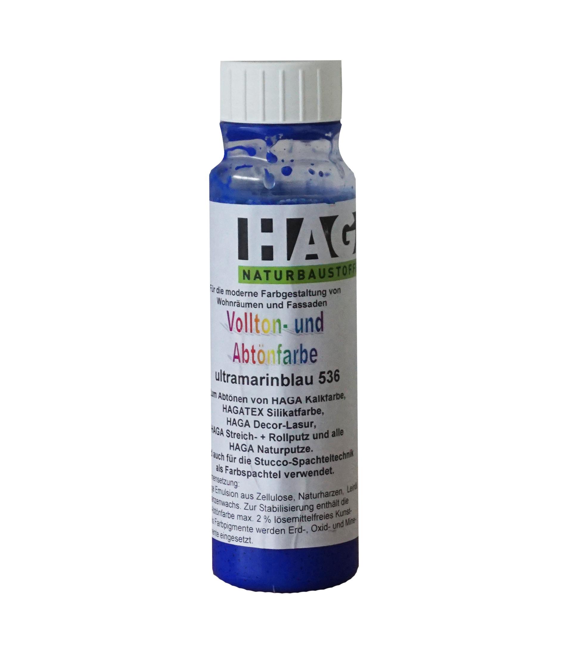 HAGA Vollton- & Abtönfarbe · ultramarinblau 536