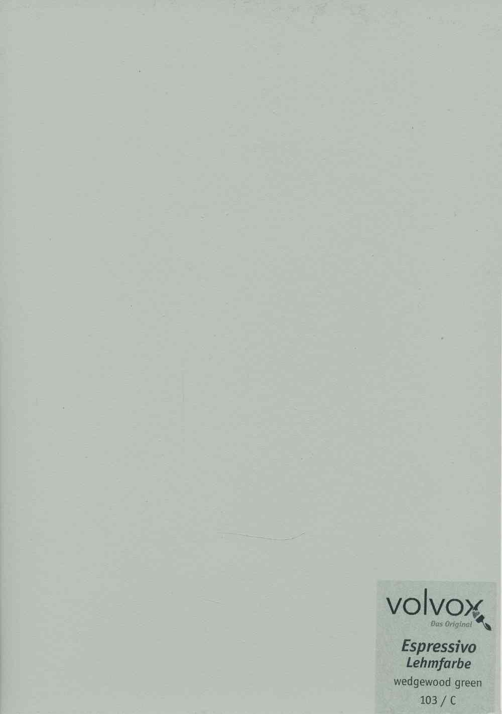 Volvox Espressivo Lehmfarbe 103 wedgewood green