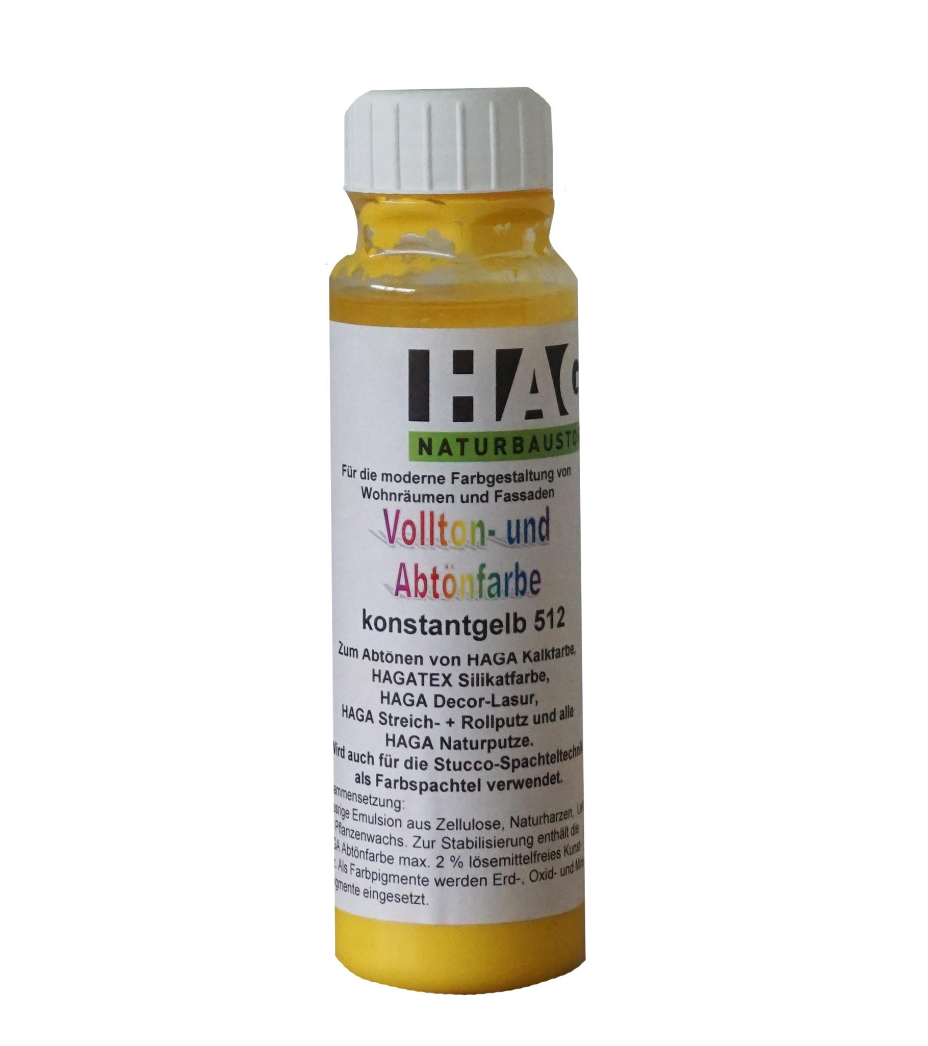 HAGA Vollton- & Abtönfarbe · konstantgelb 512