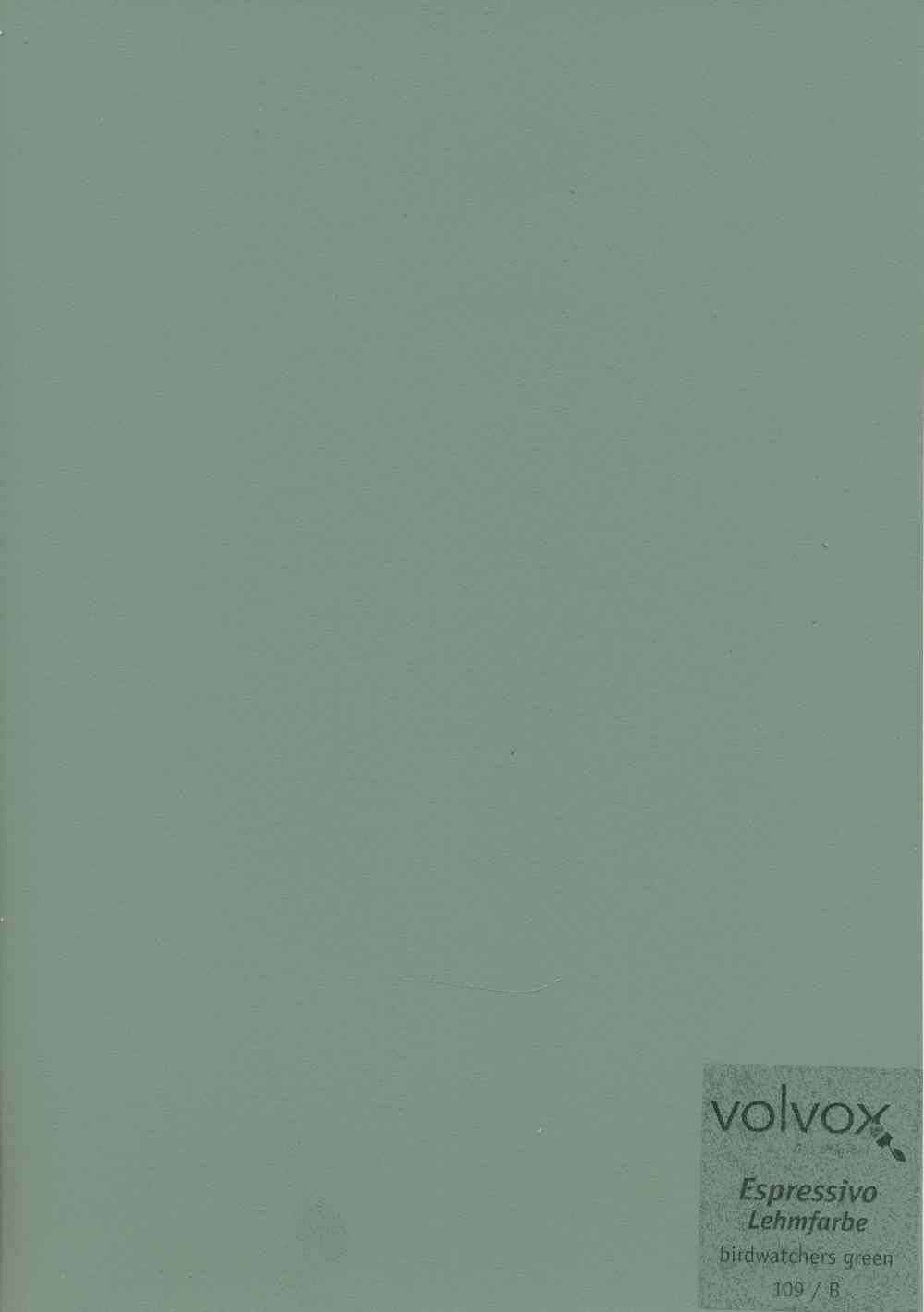 Volvox Espressivo Lehmfarbe 109 birdwatchers green