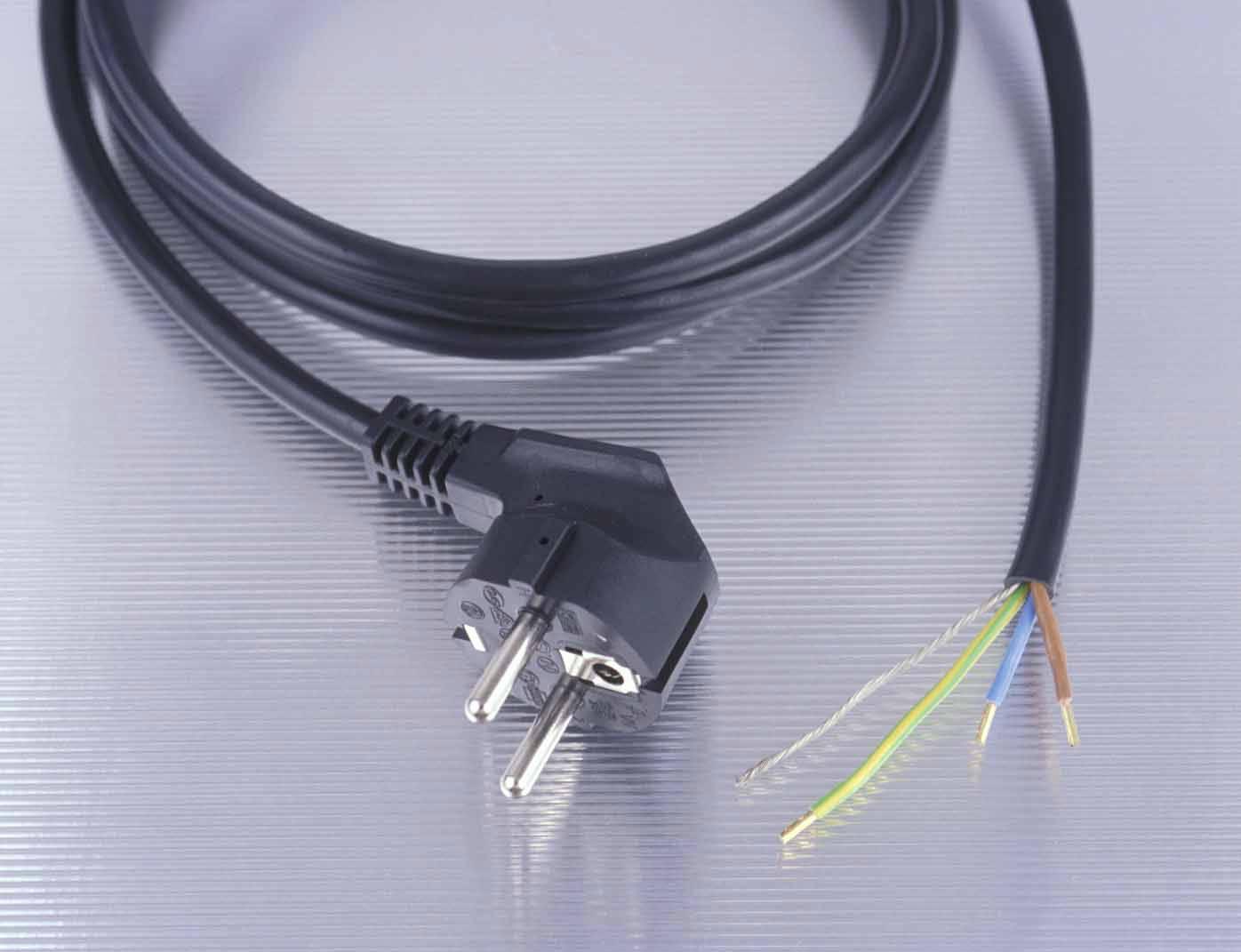 Anschlussleitung mit freiem Ende 3m schwarz