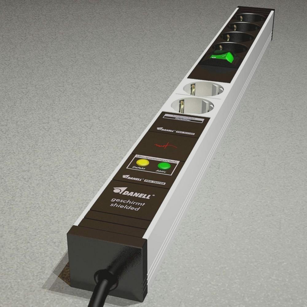 PC-Steckdosenleiste · geschirmt