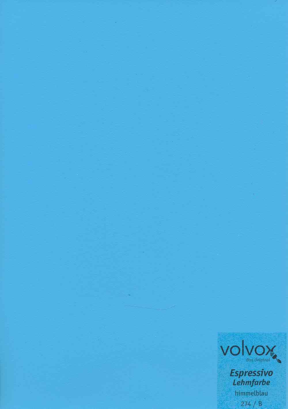 Volvox Espressivo Lehmfarbe 274 himmelblau