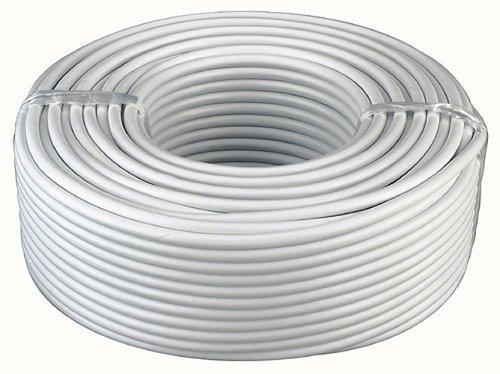 Flexibles Kabel, 3 x 1,5mm², weiß, 50m/Anschnittware · geschirmt