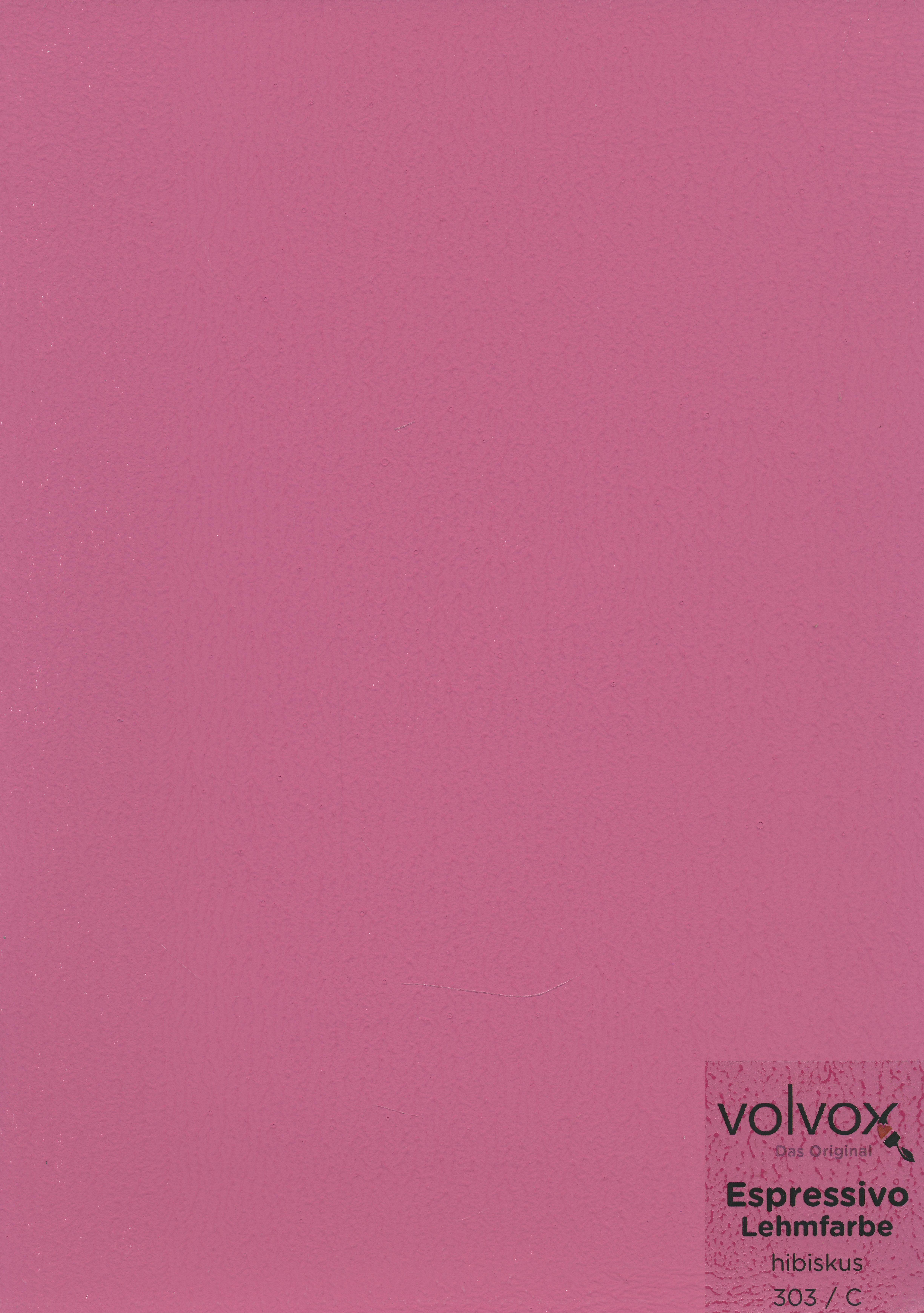 Volvox Espressivo Lehmfarbe 303 hibiskus